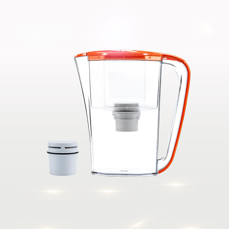 Orange beautiful water filter kettle jug with carbon filter
