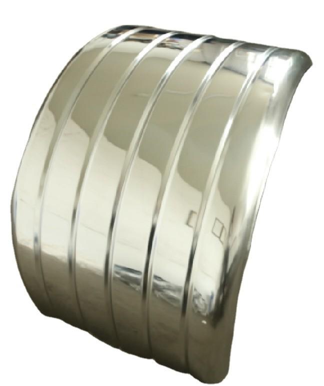 1200*630*600 Ribbed Stainless steel Full Radius Wrap Fender