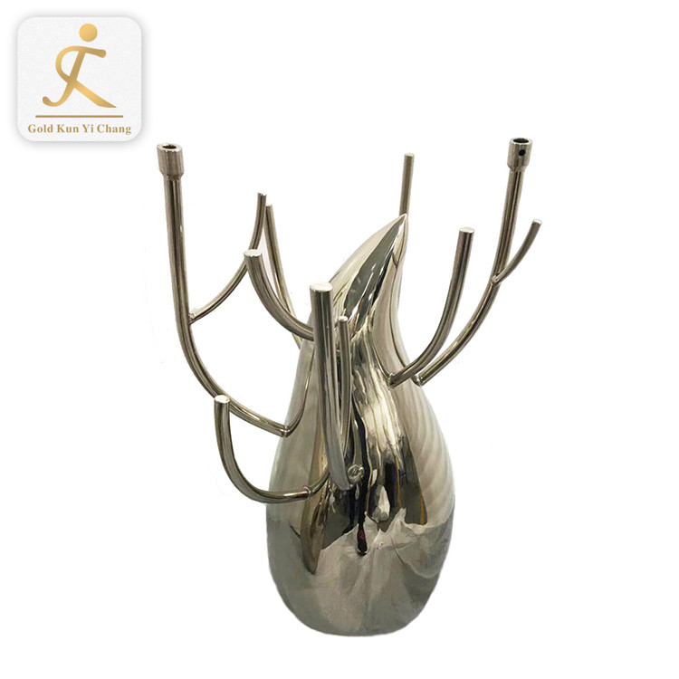 modern design stainless steel abstract metal art sculptures customize welding mirror polished stainless steel sculpture