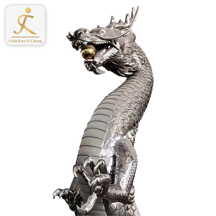 Stainless steel sculpture statue polished mirror decorative engineering forging casting art works