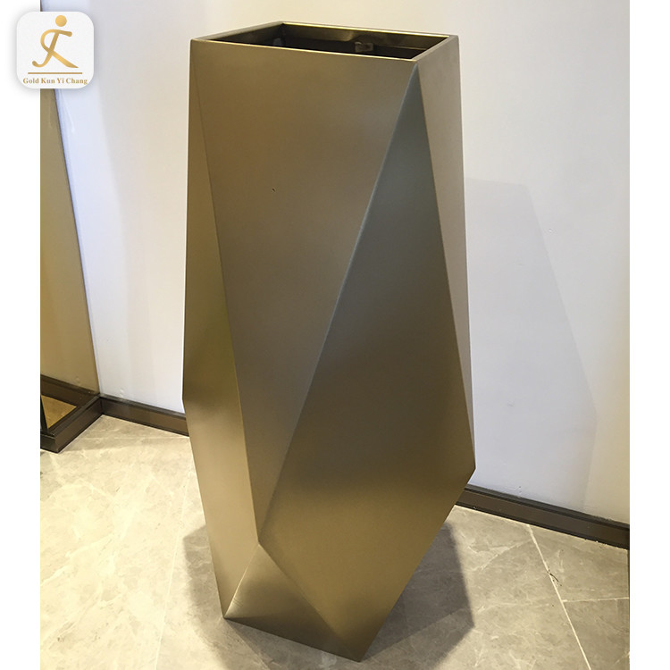 wedding decoration large tall brass metal gold stainless steel flower vase modern cylindrical metal stainless steel vase