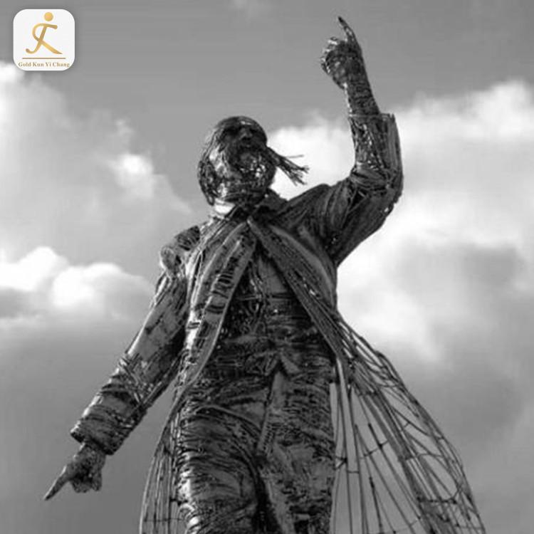 Modern Outdoor Large Human Sculpture For Garden Custom modern stainless steel statue art abstract metal outdoor sculpture