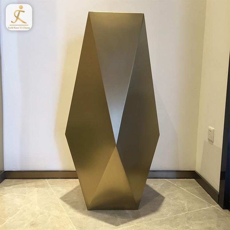 golden home decor high quality metal vase gold for flower OEM chrome gold floor stainless steel flower vase