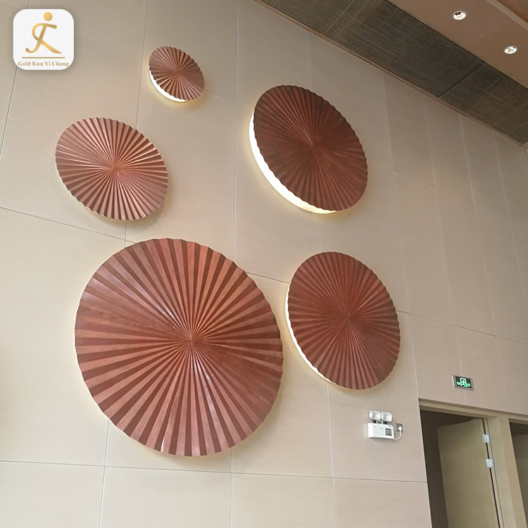 multi size home indoor wall hanging decorations with light 3D hanging wall decoration metal stainless steel garden ornaments