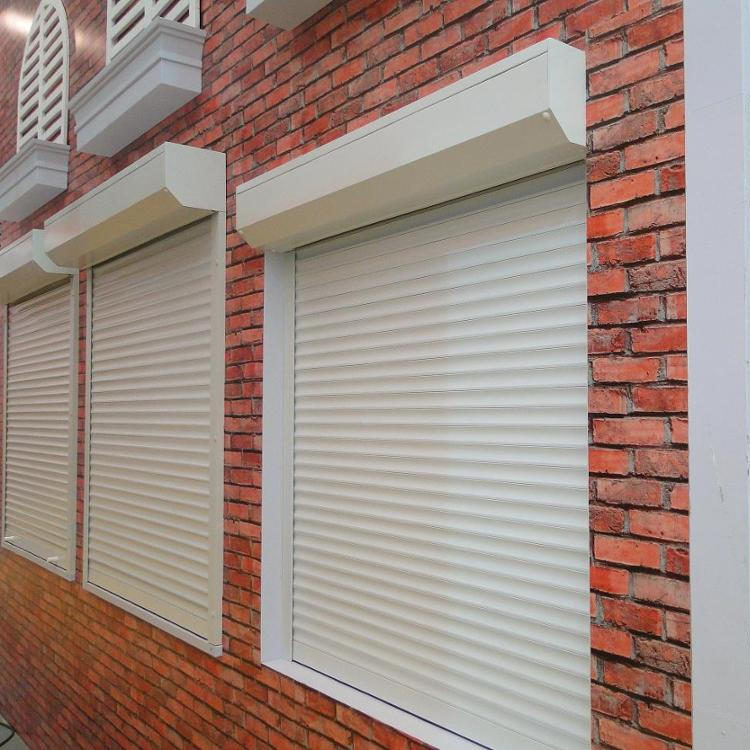 RTS 1000mm*800mm 55mm Width of Slat Aluminum Double Layer with PU Roll UpWindow