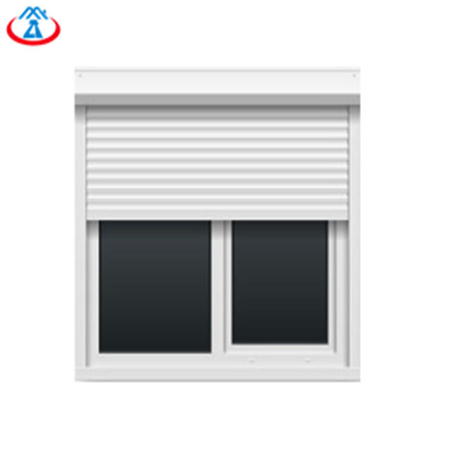 White 800mmW*2000mmH 45mm Width Of The Slat Double Layer Electric Aluminum Roller Window for House