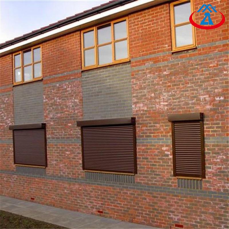 White Color Aluminum Vertical Roller Shutter Thermal Insulation Shutter Window