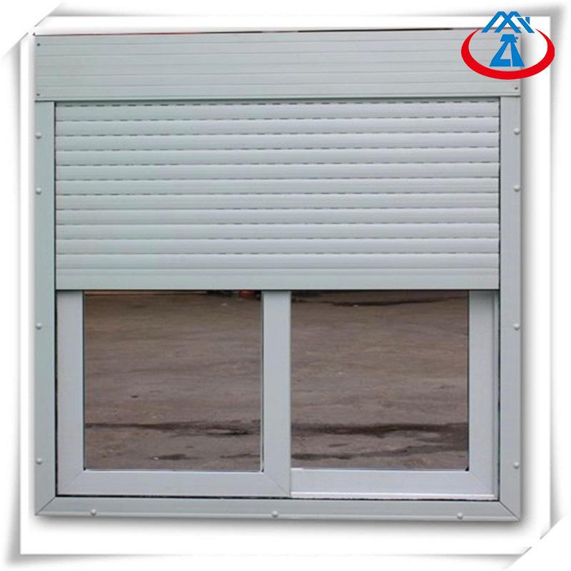 Vertical Opening Security Roller Window Shutters Exterior Aluminum Window