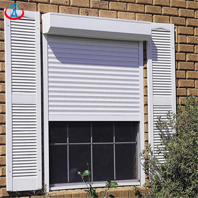 White 800mmW*1800mmH 45mm Width Of The Slat Automatic Thermal Insulation Aluminum Shutter Windows