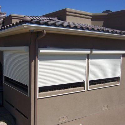800mm*2200mm 39 Slat Aluminum Roll Up Window