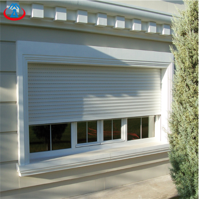 White 1400mmW*1400mmH45mm Width Of The Slat Electric Insulated Sound Insulation Roll up Shutter Window