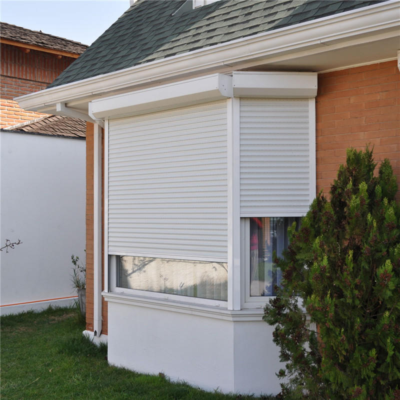 45mm White 1200mm Width and 1600mm Height Aluminum With Polyurethane Material Roller Shutter Windows Ready to Ship