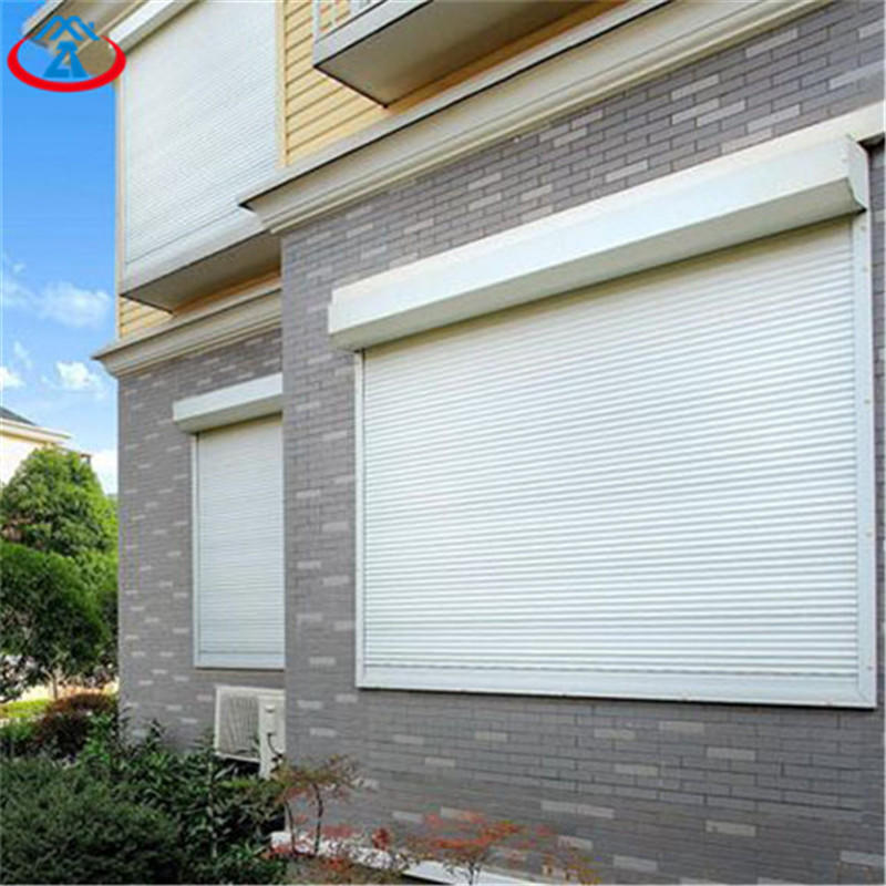 White 1000mmW*1400mmH 39mm Width Of The Slat Electric Vertical Aluminum Rolling Shutter Window With Motor