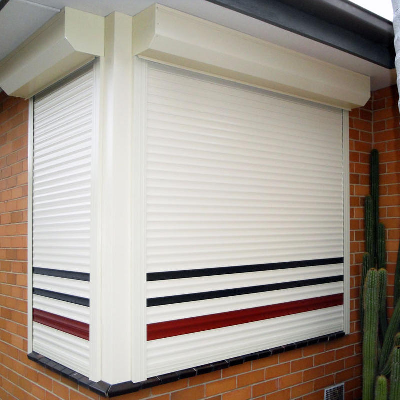 Automatic Double Layer Slat 55mm Aluminum Roller Shutter Window Vertical Aluminum Rolling Window