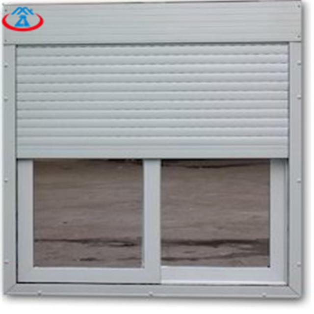 White1000mmW*1600mmH 39mm Width Of The Slat Modern Aluminum Vertical Roller Shutter Window With Motor