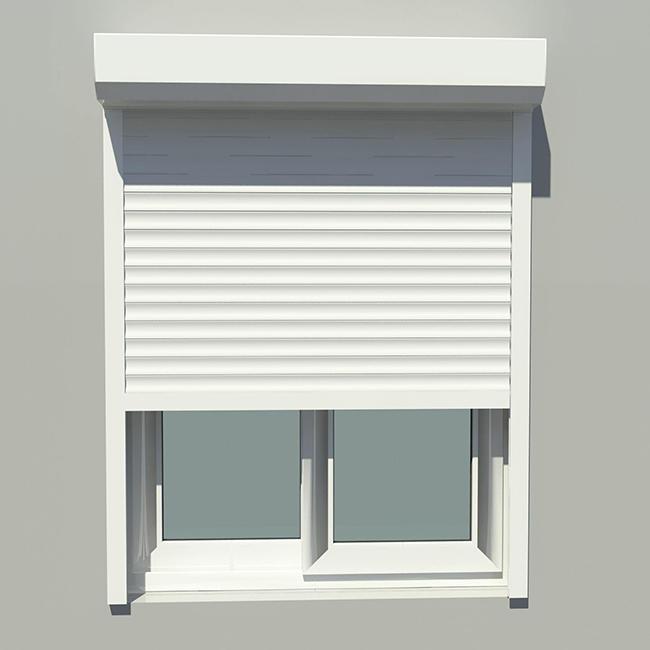 Double Layer Slat Factory Price 55mm Aluminum Width Slat White Vertical Aluminum Roller Shutter Window