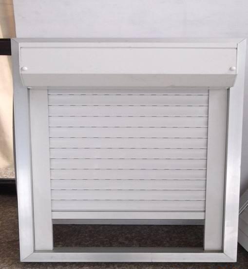 Double Layer Slat 45mm Slat Width White with PU Aluminum Vertical Roller Shutter Window