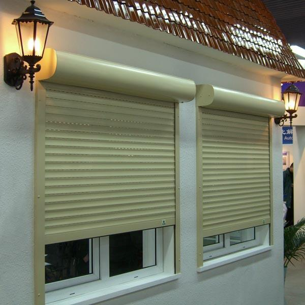 Electric Double Layer Slat with PU Vertical Aluminum Rolling Shutter Window Manufacturer