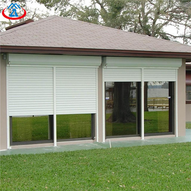 White 1000mmW*1400mmH 45mm Width Of The Slat Electric Vertical Easy to Install Aluminum Rolling Shutter Window
