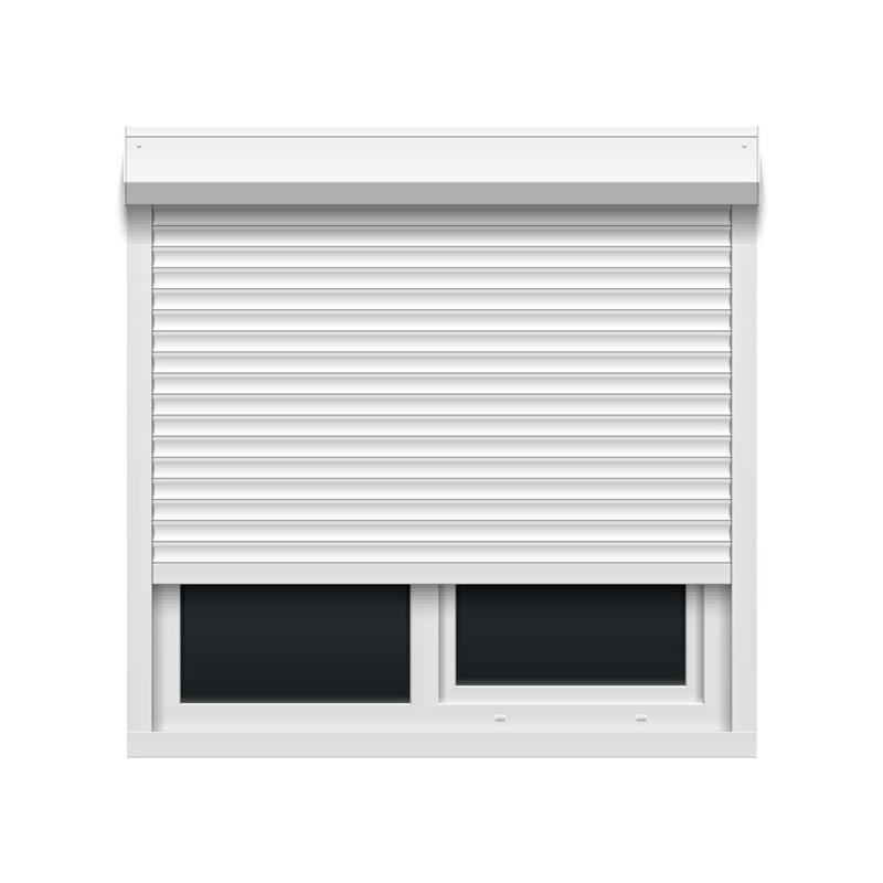 55mm white electric aluminum with PU material 1200m width by 2000mm height roller shutter window ready to ship