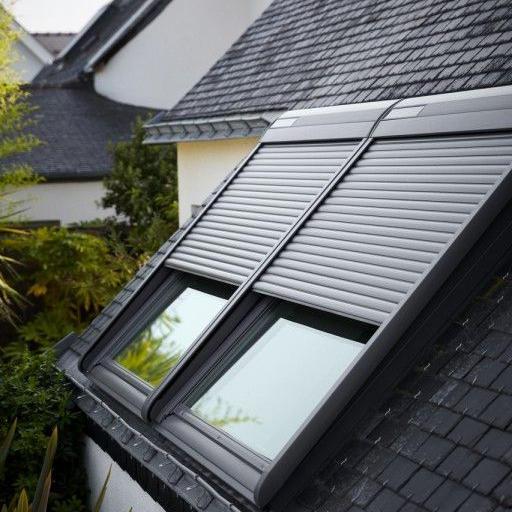 1400mm*1200mm 45mm Slat popular design used aluminum windows roller shutter exterior window
