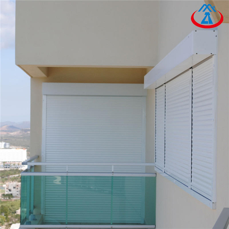 China Factory Suppliers 45mm Slat White Color Aluminum Roller shutter Windows