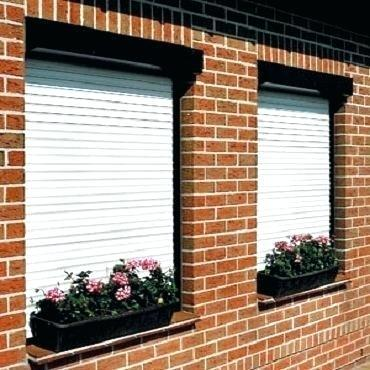 Electric Beautiful Appearance Vertical Double Layer Aluminum Roller Shutter Window