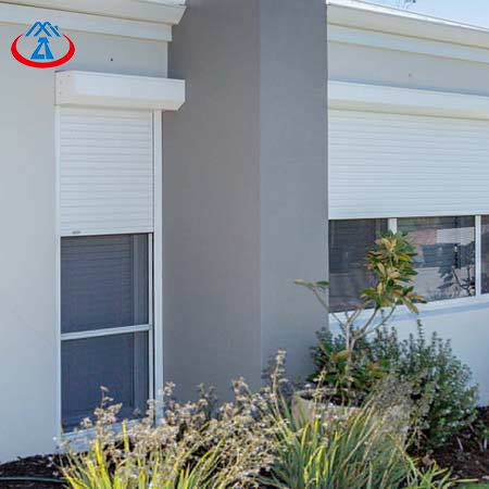 Aluminum Double Layer Window With Built-in Shutter Outside Awning Window