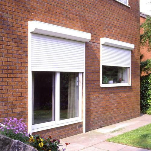 Black Color Good Quality with PU foam heat prevention Aluminum Roller Shutter Window