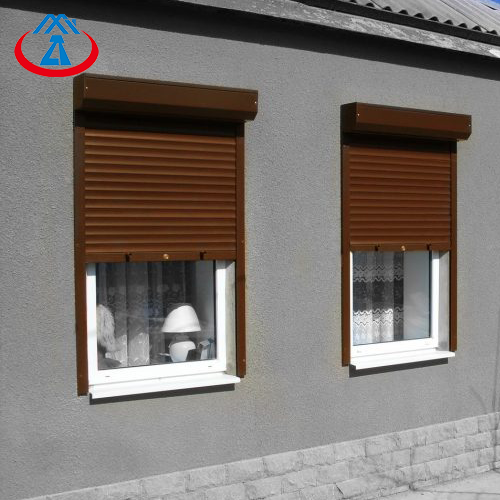800mm*2400mm 39 Slat Aluminum Double Layer Roll Up Storm Window for HotSales