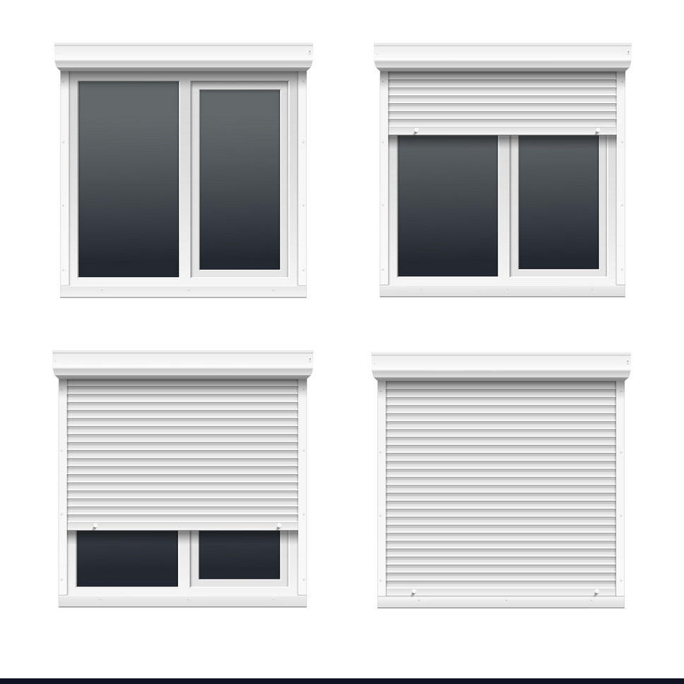 Beautiful Appearance Aluminum Rolling Shutter Window Factory Price Double Layer Slat Shutter Window