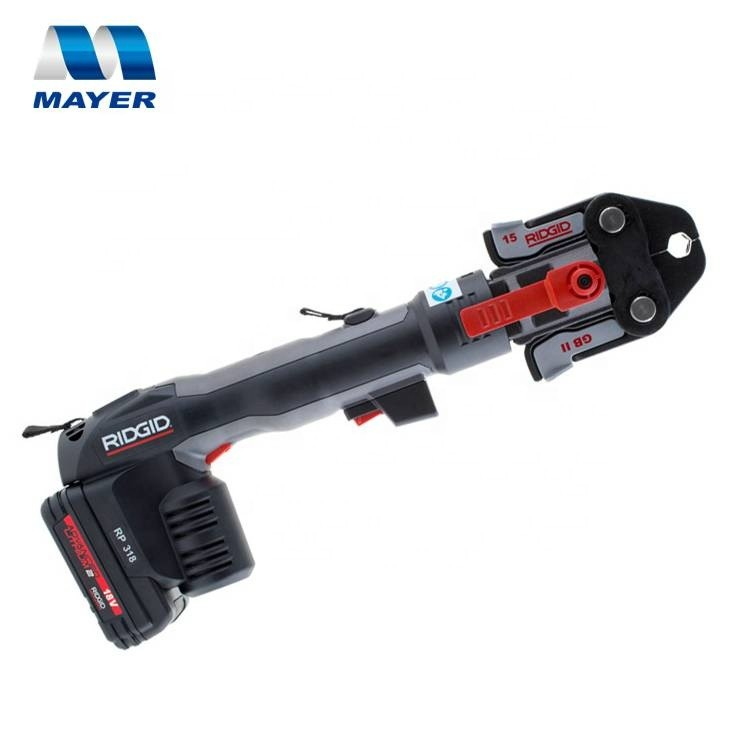 Ridgid RP310 RP318 Portable Hydraulic Battery Powered Crimping Tool Pipe Pressing Tools