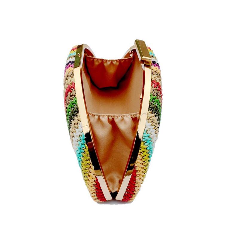 luxury fashion woven handbag semi-circular straw shoulder bag small beach handbag ladies summer messenger bag evening bag 2020