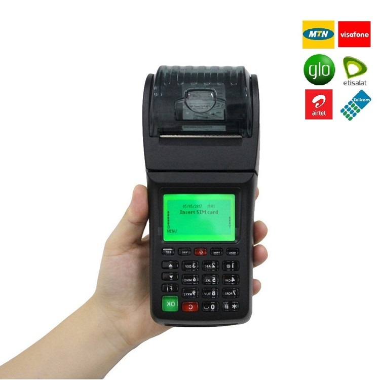 GOODCOM Handheld POS Bill Machine With Printer For Banking, Bus, Restaurant multi application
