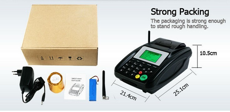 Wireless Sms Thermal Gprs Printer With Sim Card For Restaurant Food Delivery Online Order, Airtime, Lottery Ticket