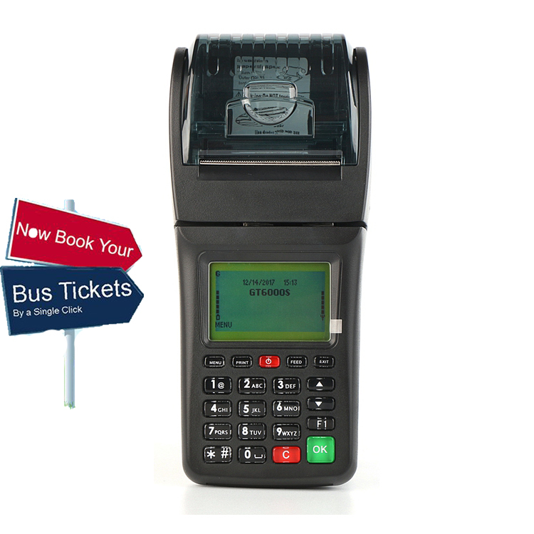 GPRS Handheld Bus Ticket Printing Pos Machine With Thermal Receipt Printer