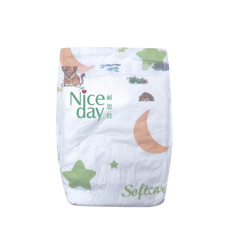 Best quality deep sleepy baby diapers colorful green chip baby diaper