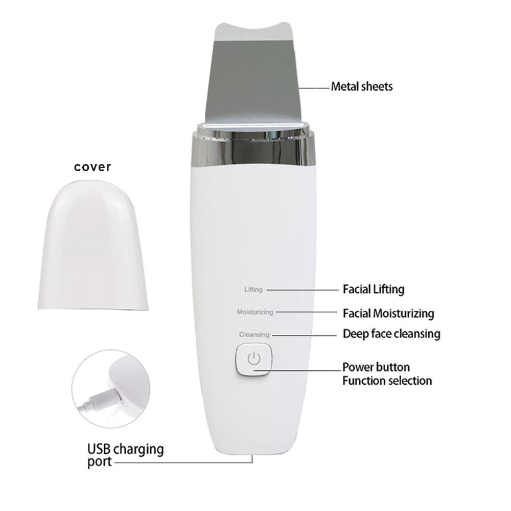 Facial sonosilk zemits kit exfoliator ultrasonic face skin scrubber machine for beauty salon