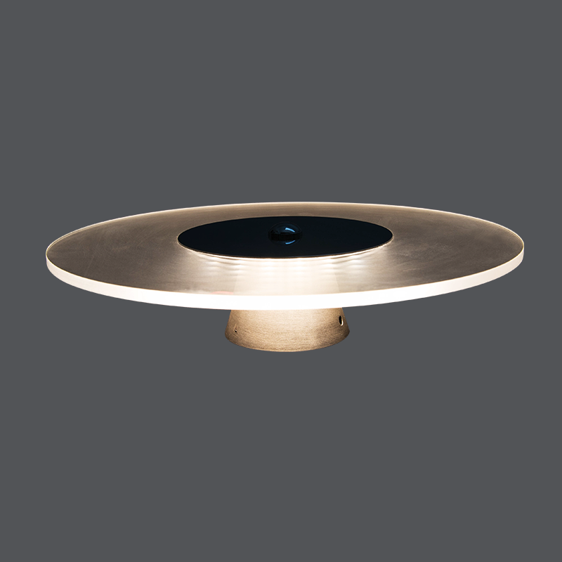 Round Clear Wall Lamp 3wfor Living Room/BedroomMounted