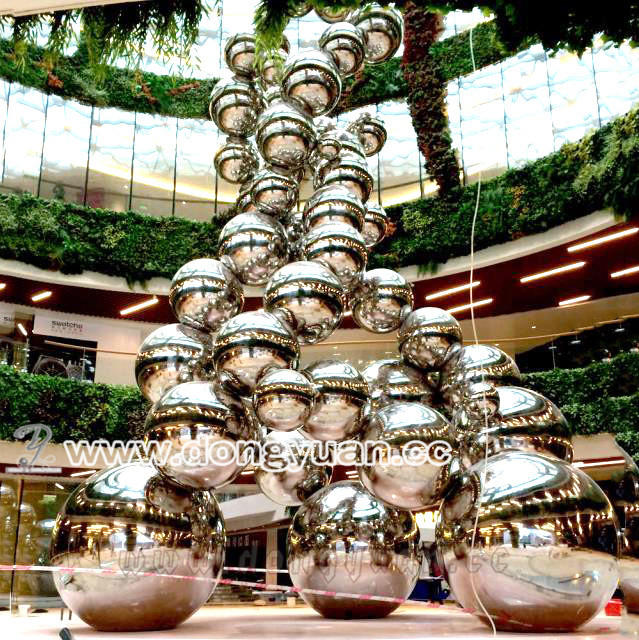 Mirror Polished Stainless Steel Sculpture for Garden Ornaments