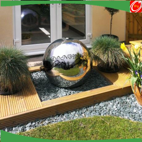 mirror finishing 600mm water feature sphere/ball fountain ball