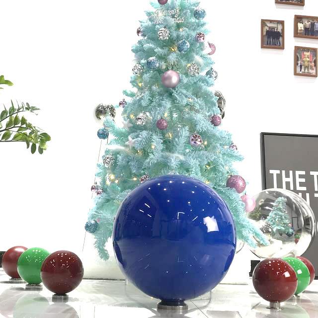 Stainless steel spherical sound sculptures , metal steel garden reflection ball