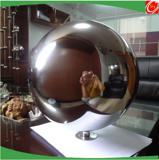 LED Light Stainless Steel Spere Ball Water Features Decoration