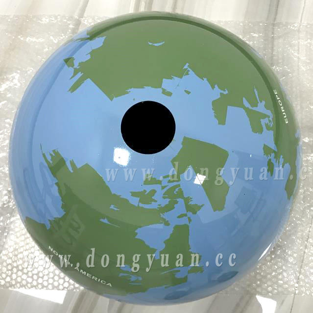 Stainless Steel Painted World Globe Sphere for Garden Ornament Water Feature