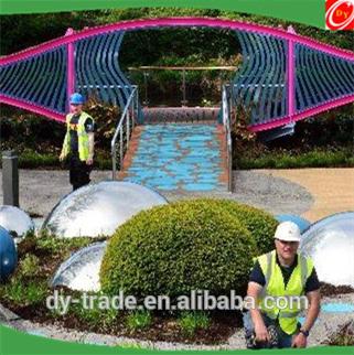 1000mm Large Size Outdoor Garden Gazing Steel Hollow Ball Sphere/Steel Sphere Ornament