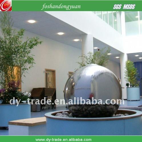 Mirror steel ball fountain/ shiny decorative balls