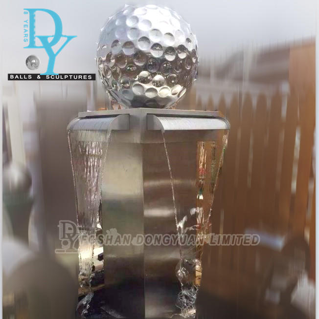 Gazing Stainless Steel Ball Spinning Water Ball Fountain