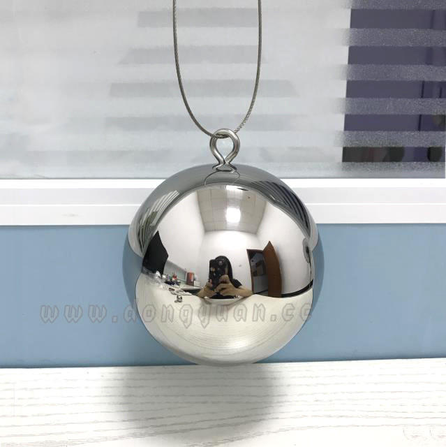 Mirror Polished Stainless Steel Round Christmas Ballfor HangingDecoration