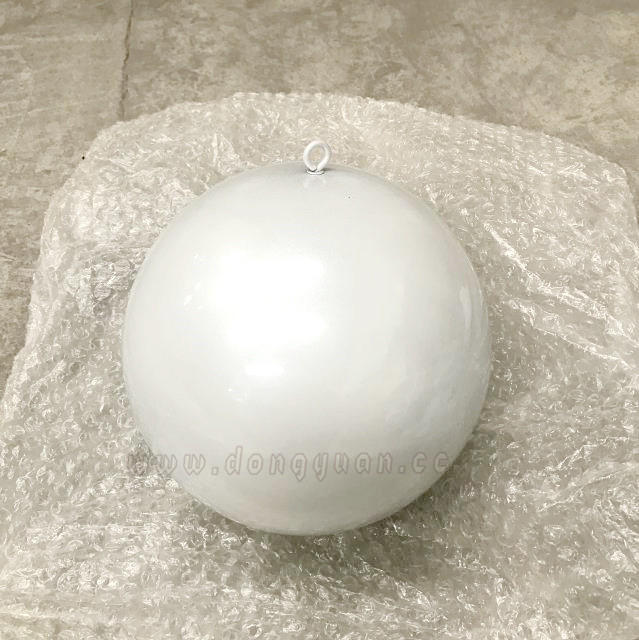 Stainless Steel Christmas Ball with Pearl White Color for Hanging Celling Decoration