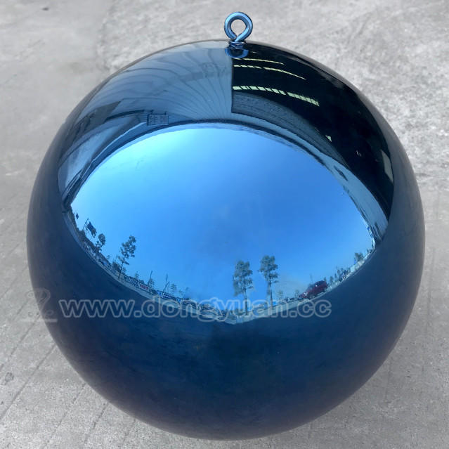 SS304High PolishedStainless Steel Hollow Spheres with Blue Color for Christmas Party Decoration